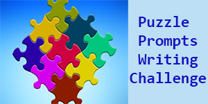 puzzle prompts banner challenge blue